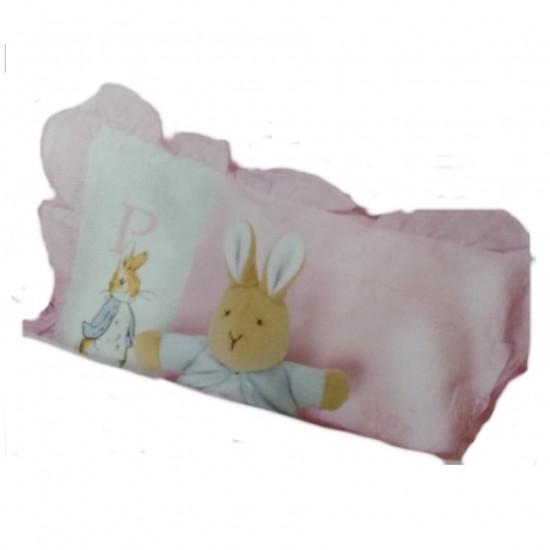 0/3 baby Peter Rabbit Pillow Case - Pink
