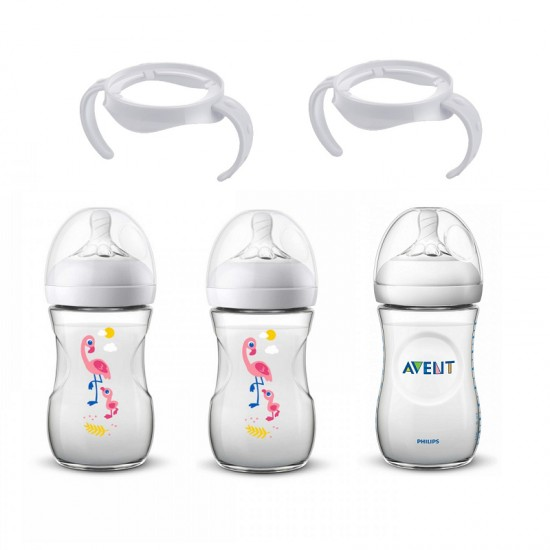 Philips Avent Natural Baby Bottles (PP) Set with handle