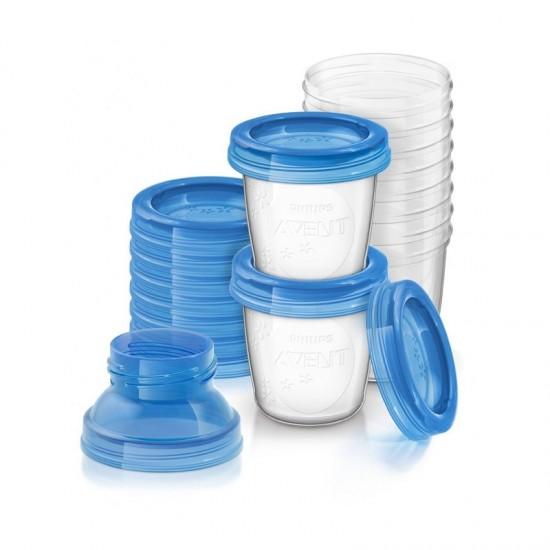 Avent 10 reusable breast milk storage cups