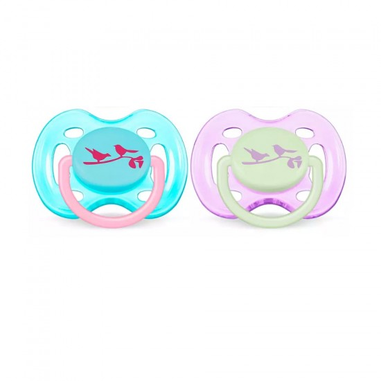 Avent freeflow pacifiers 0-6 m
