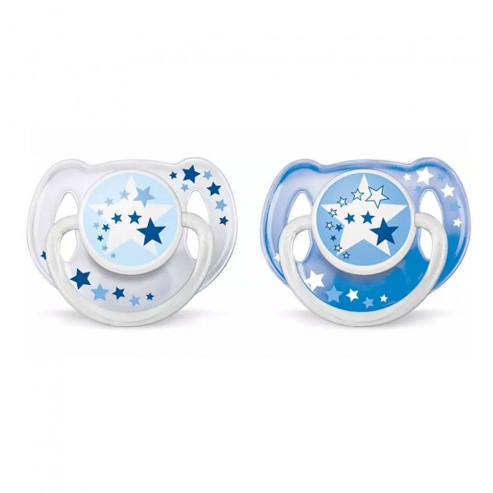 Avent night time soothers 6-18 m