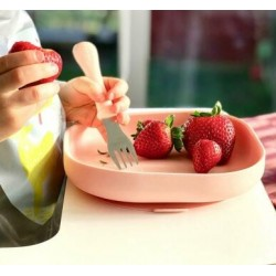 Beaba Silicone Suction Plate - Pink