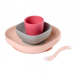 Beaba Silicone meal set  - Pink