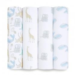 Aden+Anais essentials cotton muslin swaddle set 4 pcs - Natural History
