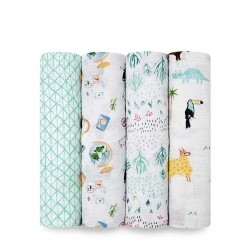 Aden+Anais classic swaddle  4 pcs - Around The World