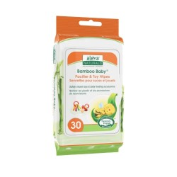 Aleva Naturals Bamboo Baby Pacifier & Toy Wipes - 30 pcs