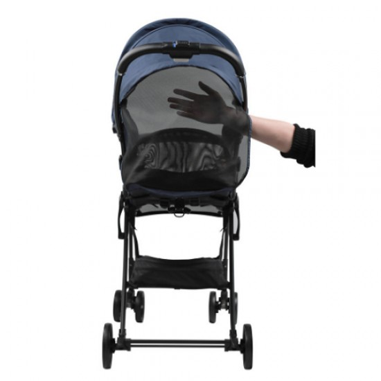 Aprica Magical Air Cushion Flat High Seat Stroller - Navy