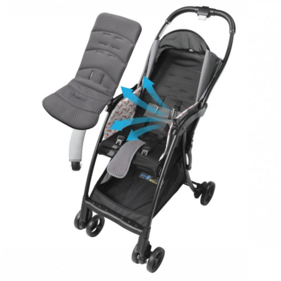 Aprica Magical Air Cushion Flat High Seat Stroller - Gray