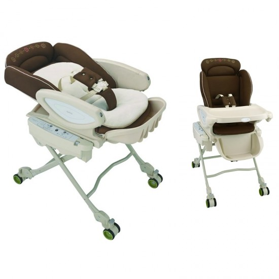 Aprica Coco Chi-no Auto HL Bed & Chair - BR