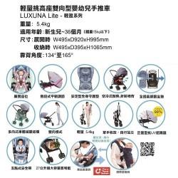 Aprica LUXUNA Lite Stroller – Voyage Blue (HK Limited Edition)