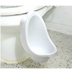 B@bi Portable Potty Toddler Boys Urinal (White)
