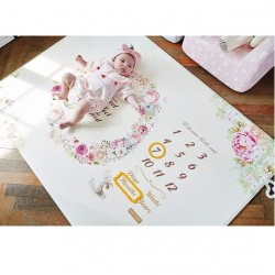Baby Care Milestone Playmat Mat - Flower (CFEL-S08-012)