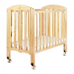 """Baby Star Easi Foldable Baby Cot, Natural - 38 x 23"""""""