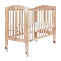 Baby Star Huggy Foldable Baby Cot, Natural - 42 x 25""