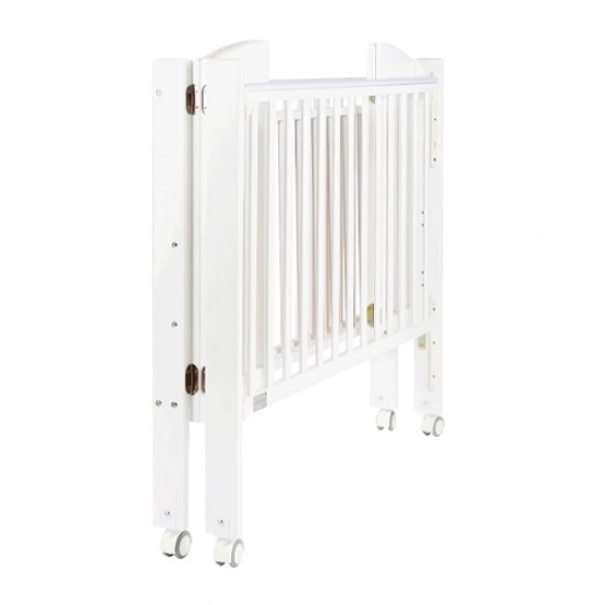 Baby Star Huggy Foldable Baby Cot, White - 42 x 25""