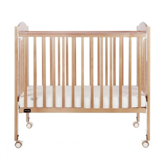 """Baby Star Huggy Foldable Baby Cot, Natural - 42 x 25"""""""