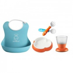 Babybjorn Baby Feeding Gift Set - Orange / Turquoise