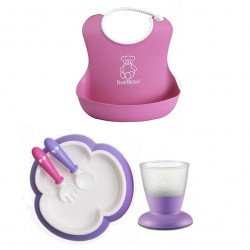 Babybjorn Baby Feeding Gift Set - Purple / Pink