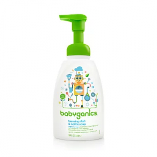 BabyGanics Foaming Dish and Bottle Soap Fragrance Free - 473ml