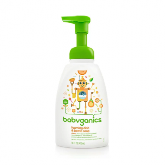 BabyGanics Foaming Dish and Bottle Soap Citrus - 472 ml