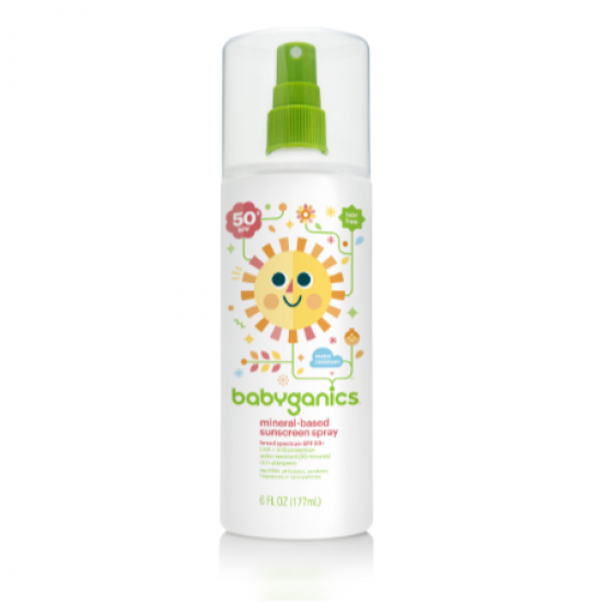 Babyganics SPF-50 Baby mineral based Sunscreen Spray 6oz