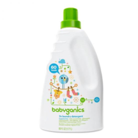 Babyganics 3x Laundry Detergent  Fragrance Free -  1.77L
