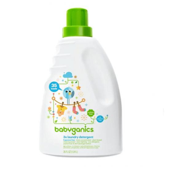 Babyganics 3x Baby Laundry Detergent, Fragrance Free - 1.04L