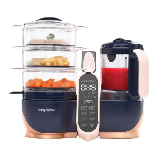 Babymoov Nutribaby(+) XL Food Steamer and Blender - Copper/Navy