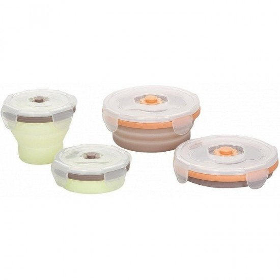 Babymoov Silicone Container Set -  2 x 240ml + 2 x 400ml