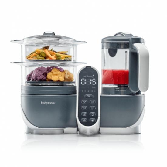 Babymoov Nutribaby+ Food Steamer and Blender - Industrial Grey