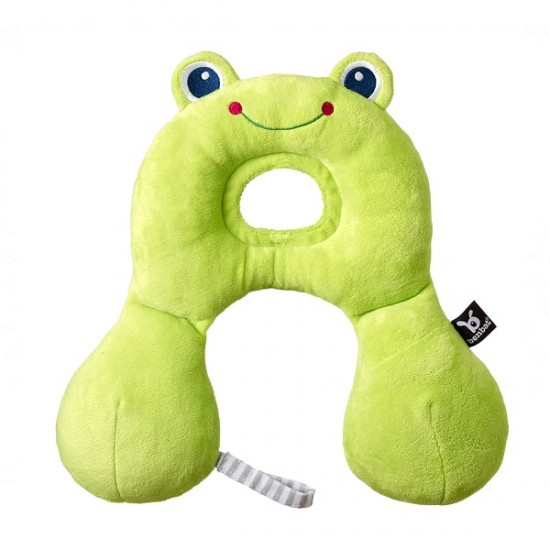 BenBat Travel Friends Headrest  - Frog (0 - 12 months)
