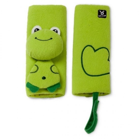 BenBat Travel Friends Seat Belt Pals - 0-12m - Frog