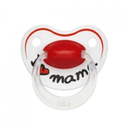 bibi Happiness soother with dental silicone teat - I love mama