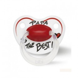 bibi Happiness soother with dental silicone teat - PAPA IS THE BEST