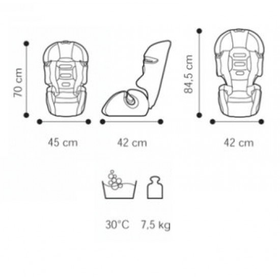 Brevi Aston b.fix Car Seat - Red