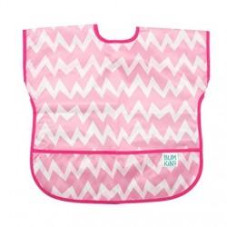 Bumkins Waterproof Short Sleeve Child Smocks - Pink Chevron