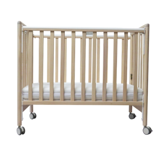 """C-Max Baby Cot (include children bed's rail) - 44 x 24 """" (Natural)"""