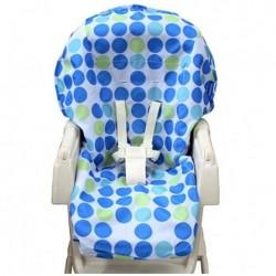 California Bear Water Repellent High Chair Protector - Blue dot
