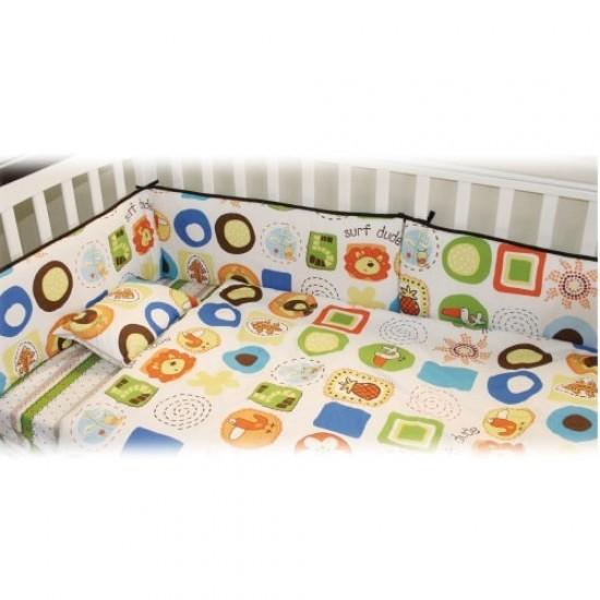 California Bear Baby Bedding Set (Animal Snacks)