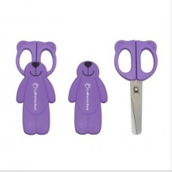 California Bear Detachable Baby Food Scissors – Lovely Bear (Purple)