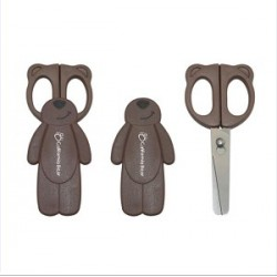California Bear Detachable Baby Food Scissors – Chocolate Bear