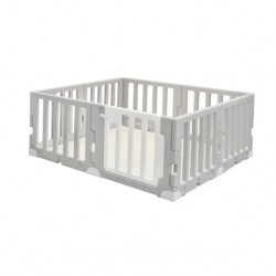 Caraz LINE 7+1 Baby Room and Play Mat Set with Panel Holders - Chic Grey