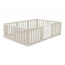 Caraz LINE 9+1 Baby Room and Play Mat Set with Panel Holders - Chic Beige