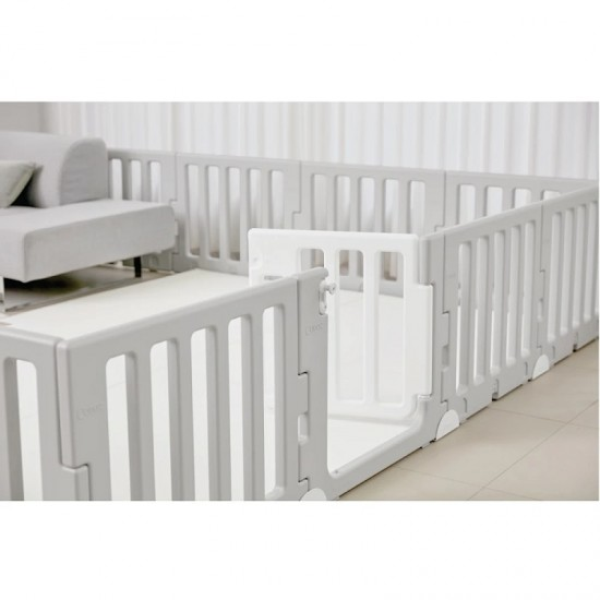 Caraz LINE 9+1 Baby Room and Play Mat Set with Panel Holders - Chic Grey