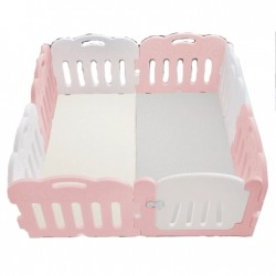 Caraz 7+1 Baby Room (pink / white) with playmat set -  148 x 148 cm
