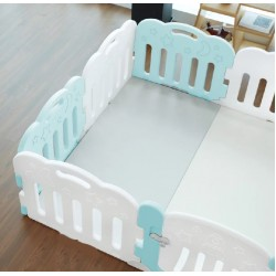 Caraz 7+1 Baby Room (Mint / white) with playmat set -  148 x 148 cm