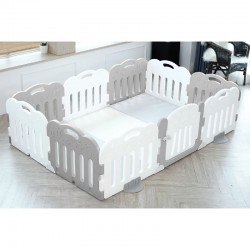 Caraz 9+1 Baby Room and Play Mat Set with Panel Holders - Grey  - 221 x 148 cm