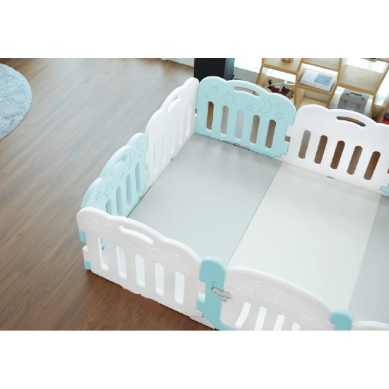 Caraz 9+1 Baby Room and Play Mat Set - Mint - 221 x 148 cm