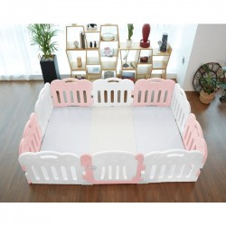 Caraz 9+1 Baby Room and Play Mat Set - Pink - 221 x 148 cm