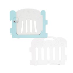 Caraz Baby Room Extension Kit (1 x Door + 1 x Panel) - Mint + White